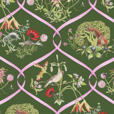 Mercia Ribbons Wallpaper