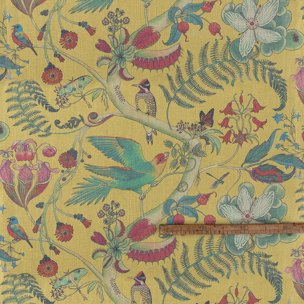 Carolina Parakeets in Cornbread Linen