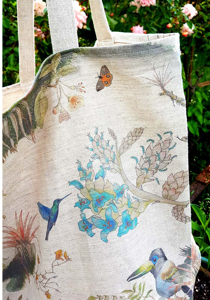 bag made of Madidi Clouds linen