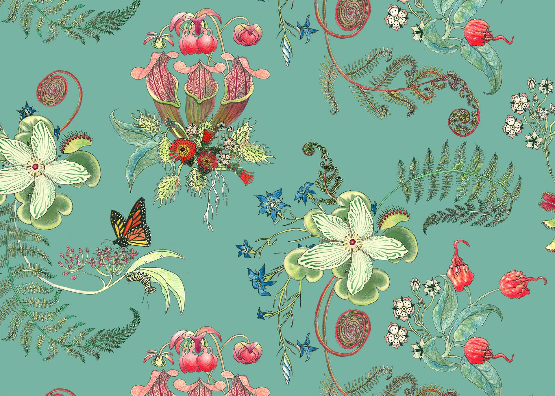 VerdigrisvPosies, in the Carolina Tree of Life Collection by Newton Paisley.