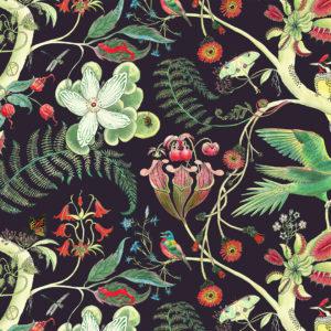 Carolina Tree of Life Parakeets Linen