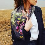 Tree frog silk scarf