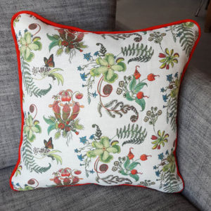 Cream posies cushions