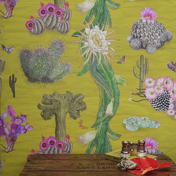 Cactus Mexicanos in Limon 70cm x 10m rolls
