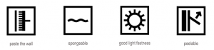 Wallpaper care symbols