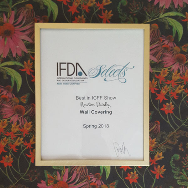 Top Awards For Newton Paisley At Icff In New York Newton Paisley