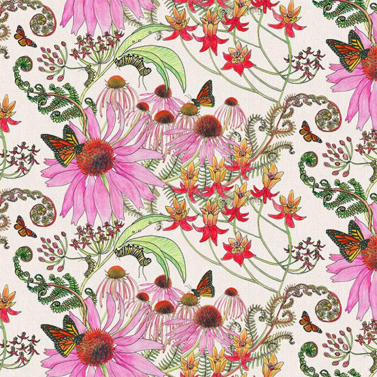 CarolinaMonarch Natural 27A detail Newton Paisley