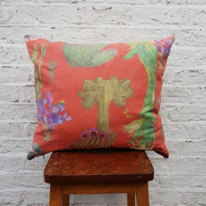 Cactus Mexicanos Cushion in Papaya