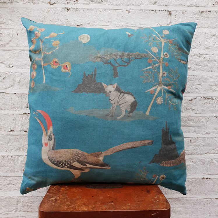 Lewa cushion in Blue