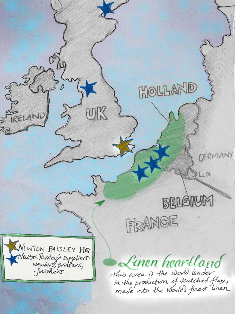 Newton Paisley map