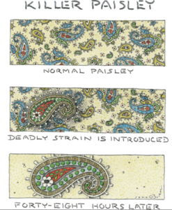 John O'Brien cartoon 'Killer Paisley