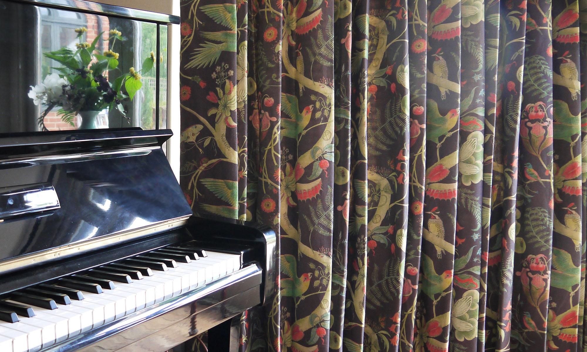 Parakeets Prunus piano