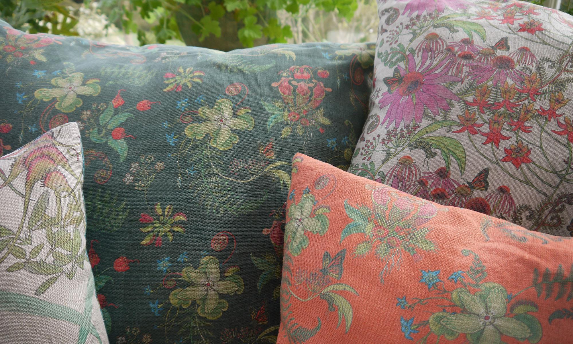 Carolina Posies Monarch Cushions
