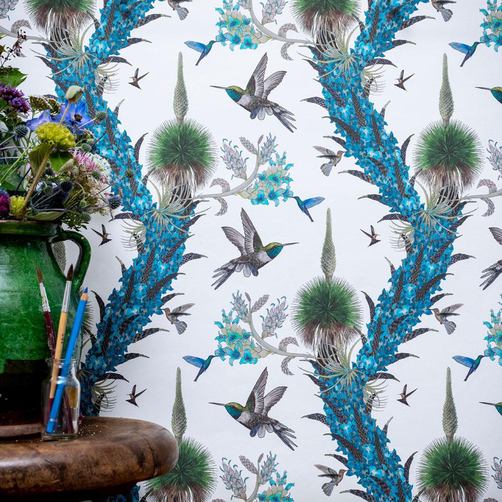 Hummingbirds in Cream