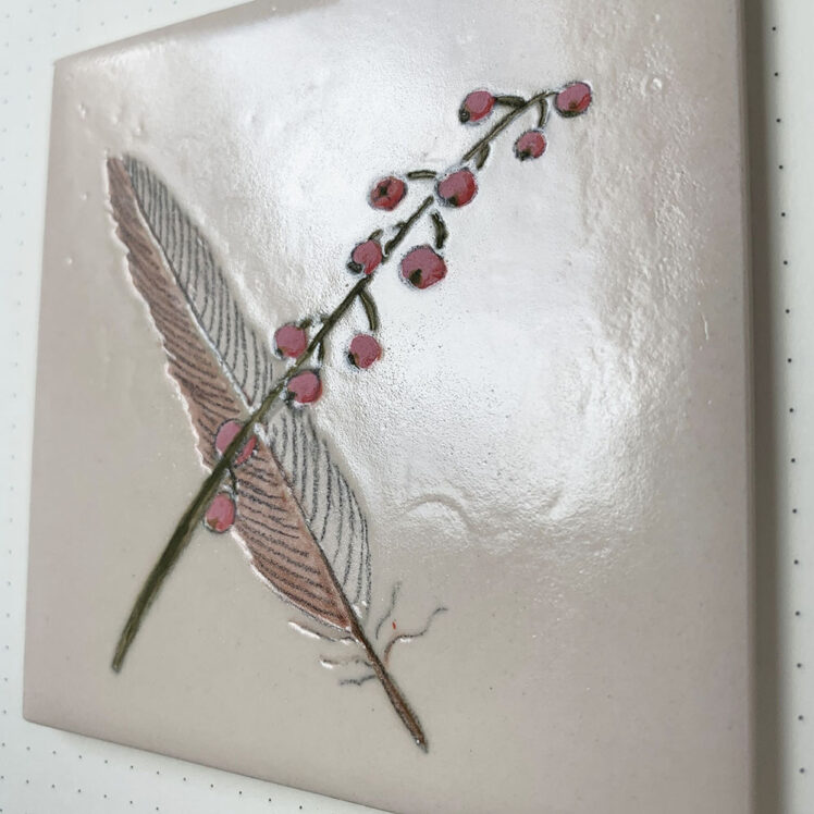 Feather tile side