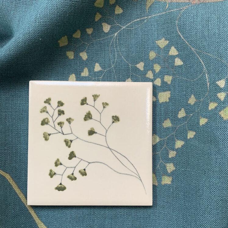 Maidenhair fern tile