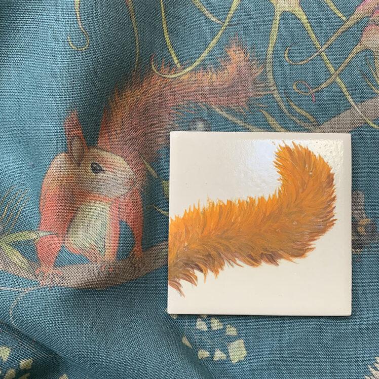 Squirrel tail tile B