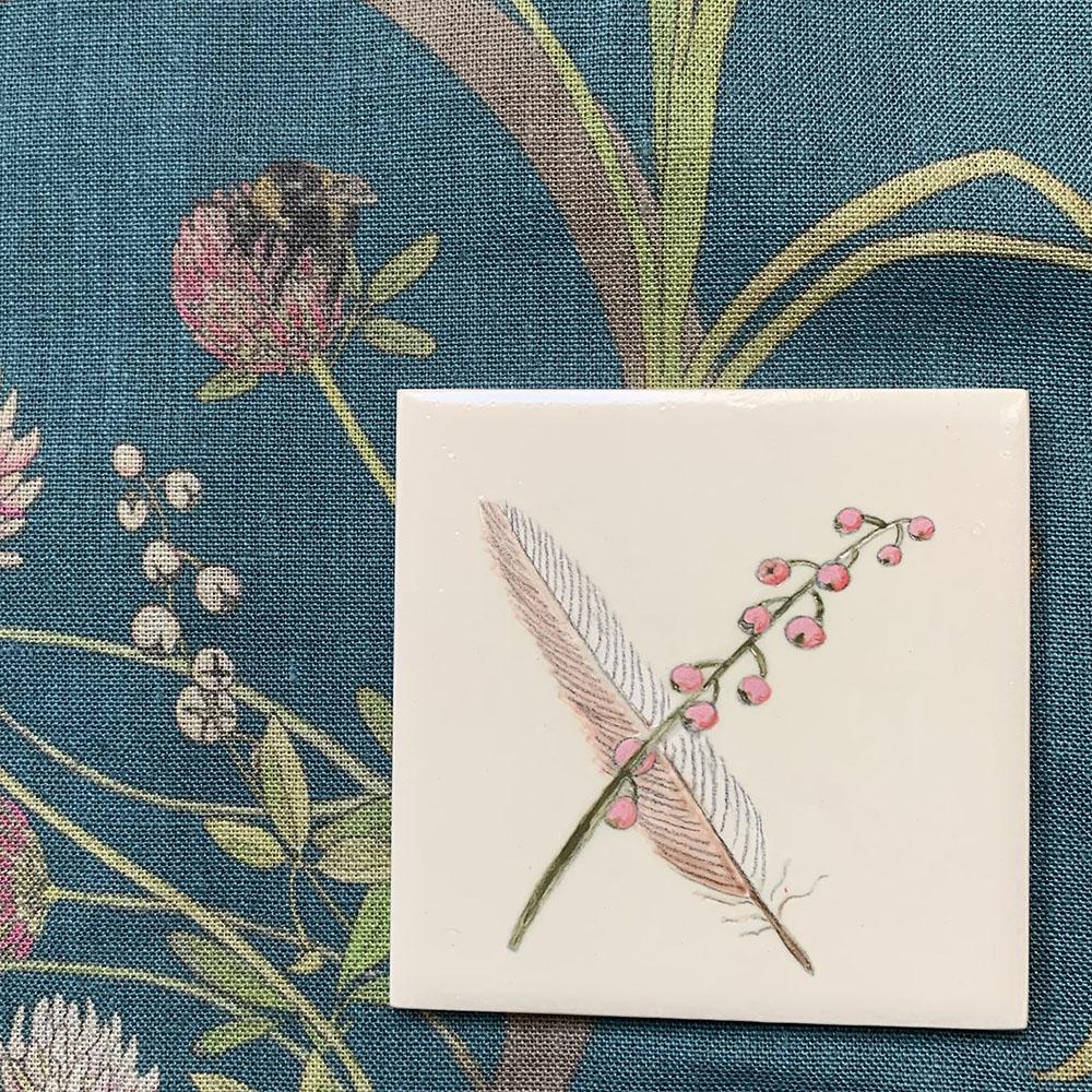 Nightingale feather tile